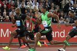 Yohan Blake powers past Powell in Zurich 100m (Jean-Pierre Durand)