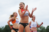 Rebekka Haase after winning the 200m at the European Under-23 Championships in Tallinn (Getty Images)