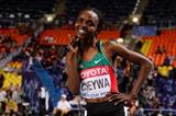 Milcah Chemos in the womens 3000m SC at the IAAF World Championships Moscow 2013 (Getty Images)