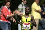 Joshua Chelanga beats the heat en route to his victory in the Fortis Rotterdam Marathon (Olaf Kraak/AFP/Getty Images)