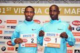 Getu Feleke and Henry Sugut ahead of the 2014 Vienna City Marathon (organisers / www.photorun.net)