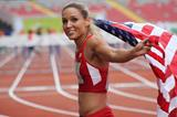 Lolo Jones at the 2015 NACAC Senior Championships (Organisers)
