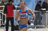 Lu Xiuzhi on her way to an Asian 20km race walk record in Beijing (Cao Can)
