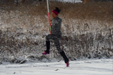 Jenn Suhr in winter training, upstate New York, 24 November 2013 ()