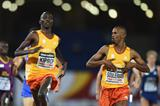 Ayanleh Souleiman wins the 1500m from Asbel Kiprop at the IAAF Continental Cup, Marrakech 2014 (Getty Images)