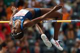 US heptathlete Sharon Day in the high jump at the 2009 IAAF World Championships (Getty Images)