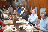 IAAF President Lamine Diack at a media breakfast in Doha on 9 May 2014 (Doha LOC)