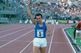 Pietro Mennea celebrates his victory in front of a home crowd at the 1979 European Cup (Getty Images)