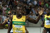 Usain Bolt of Jamaica wins the men's 200 metres final ahead of Walter Dix of the United States  (Getty Images)