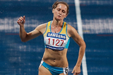 Kazakhstan's Viktoriya Zyabkina in the 200m (Getty Images)