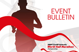 Event bulleting for the IAAF/Cardiff University World Half Marathon Championships Cardiff 2016 ()