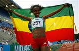 Genzebe Dibaba improves on the silver she won two years ago with gold in the 5000m (Getty Images)
