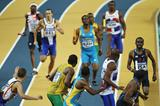 USA (inside lane) on their way to gold in the Men's 4 x 400m Relay (Getty Images)