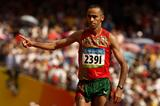Jaouad Gharib of Morocco finishes second in the Olympic marathon in 2:07:16 (Getty Images)