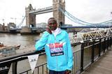 Stephen Kiprotich ahead of the 2013 Virgin London Marathon  (Getty Images)