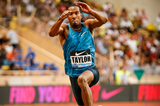 Christian Taylor on his way to winning the triple jump at the IAAF Diamond League meeting in Monaco (Philippe Fitte)