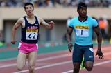 Yoshihide Kiryu and Mike Rodgers at the 2013 Seiko Golden Grand Prix in Tokyo (Yohei Kamiyama / Agence SHOT)