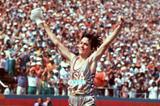 Joan Benoit winning the 1984 Olympic Games marathon (Getty Images)