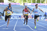 Jimmy Vicaut wins the 100m at the French Championships (Stéphane Kempinaire/KMSP)