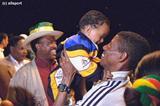 Loving father Haile Gebrselassie (© Allsport)