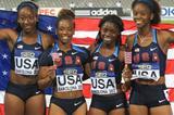 The US 4x100m team winners of the World Junior Championships in Barcelona (Alberto Montenegro)