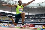Benjamin Compaore, winner of the triple jump at the IAAF Diamond League meeting in Paris (Jiro Mochizuki)
