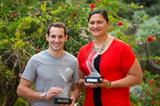 2014 World Athletes of the Year Renaud Lavillenie and Valerie Adams (Philippe Fitte / IAAF)