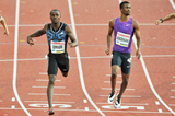 Alonso Edward winning the 200m at the 2015 IAAF Diamond League meeting in Stockholm (Deca Text&Bild)