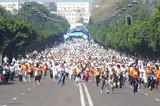 The start of the Rabat Women's Race (Mohammed Benchrif)
