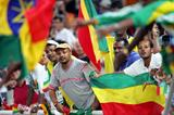 Ethiopian athletics supporters in party mood (AFP / Getty Images)