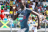 David Rudisha on his way to winning the 800m at the IAAF Diamond League meeting in New York (Victah Sailer)