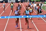 Eunice Sum just holds off Ajee Wilson to win the 800m at the IAAF Diamond League in Eugene (Kirby Lee)