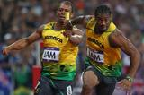Yohan Blake in action in the 4x100m (Getty Images)