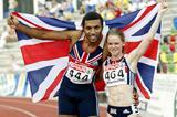 Hayley Jones and Alex Nelson - European Junior 200m champions (Mark Shearman)