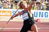 Barbora Spotakova in action in the javelin at the Diamond League meeting in Lausanne (Gladys Chai von der Laage)