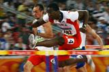 Dayron Robles runs an easy looking 13.19 to make it into the 110m hurdles semi finals (Getty Images)