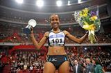 Meseret Defar after her win in Stockholm (Hasse Sjögren)