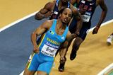 Chris Brown of Bahamas on his way to winning gold in the 400m final (Getty Images)
