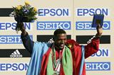 Zersenay Tadesse on the podium (Getty Images)