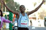 Haile Gebrselassie wins the P.F. Chang's Rock 'n' Roll Arizona Half-Marathon in Phoenix in a World record (Elite Racing)
