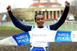 Tirunesh Dibaba takes the 2004 Gt. North XC title in thick mud (Mark Shearman)