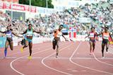 Murielle Ahoure wins the 100m at the IAAF Diamond League meeting in Oslo (Mark Shearman)