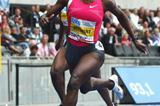 World leader Kerron Stewart competes in the 100m in the Berlin Golden League (Getty Images)