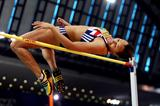 Jessica Ennis of GBR during the Pentathlon High Jump (Getty Images)
