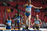 Gulnara Galkina takes an easy victory in the women's steeplechase (Getty Images)