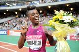 Dawn Harper-Nelson after winning the 100m hurdles at the IAAF Diamond League meeting in Paris (Jiro Mochizuki)