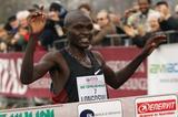 Kenya's Thomas Longosiwa taking the victory at the 2012 Cinque Mulini (organisers)