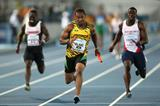Yohan Blake powers away to victory for Jamaica in the men's 4x100m in Nassau (Getty Images)