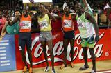 The Kenyan World 4x800m record quartet - Bungei, Yiampoy, Mutua, Kombich - in Brussels in 2006 (AFP / Getty Images)