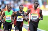 David Rudisha leading Abubaker Kaki in London. The Kenyan prevailed with a meeting record 1:42.91 (Mark Shearman)